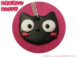 Kawaii Kitty Necklace by CazGirl