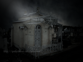 moonlight in the cemetery by Gothicmama