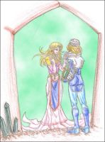 Soap Bubble 01: Sheik + Zelda by SlanSoulblaze