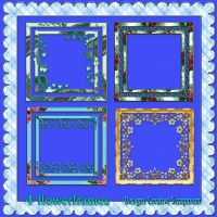 4 Flowerframes preview by Creativescrapmom