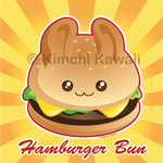 Punny Bun: Cute Hamburger Bunny by kimchikawaii