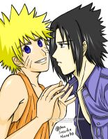 SasuNaru: Not here Sasuke by eyes2blues