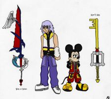 KBW_Riku + King Mickey by DNLnamek01