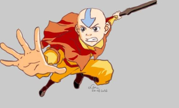 Aang by meowlodyy