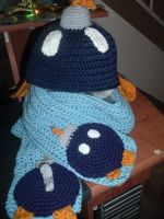 Super MArio Bob-omb hat and scarf set by Nanettew9