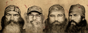 Duck Dynasty on Textured paper by gregchapin