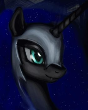 Nightmare Moon Portrait (Animated) by equumamici