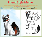 Mewie Friend Style Meme by SophSouffle