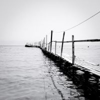 the black and white sea no.5 by herbstkind