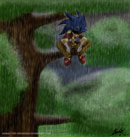 .:Raining on a Fallen Hero:. by Nomad-The-Hedgehog
