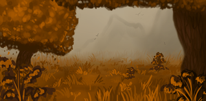 Autumn's meadow -speedpaint- by Amber100