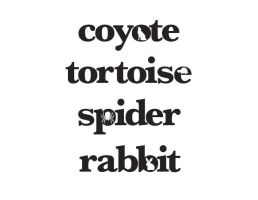 Animal Typography 3 by melissrrr