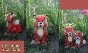 Sitting Tod plush by Laurel-Lion