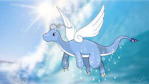 Pokemon Dragonair Evolution - Dragonite by Hermy-one