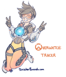Overwatch: Tracer by SinisterBunneh