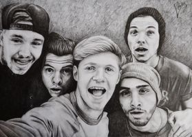 One Direction Selfie by Lydiart95