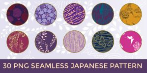 30 PNG Seamless Japanese Pattern by o-yome