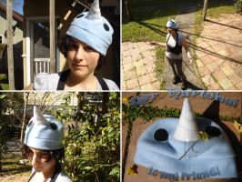 Sea Unicorn - Narwhal Hat by silver-raindrops