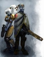 Tau Soldier and Scout by Scarecrovv