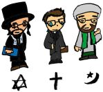 Rabbi, Priest, and Imam by PizzaSpaghetti
