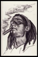 Sketchbook-Smoking Cigar by ligoscheffer