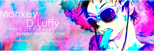 Monkey D. Luffy V.2 Signature Banner By Me by Laurello7