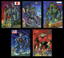 Pacific Rim sketch cards by Reznorix