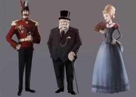 Lord Wolf Estate characters 1 by TheRollingMan