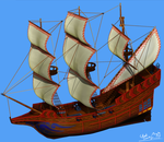 Pirate Ship [Front Side] by Darkness545454