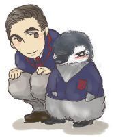 Blaine and Baby penguin by hashibayuya