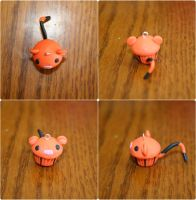 Polymer Clay Cupcake - Tigger by PiinkKittyy