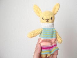 Chaussette the yellow rabbit by AnneKo