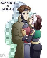 Gambit x Rogue by LauraDoodles