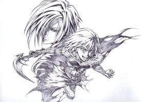 Riku And Zexion Ink Only by Nick-Ian
