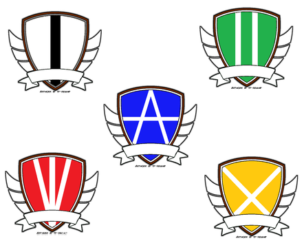 Deviant academy year emblems by King-Retro