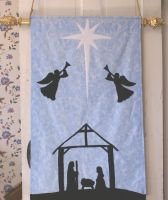 Nativity Silhouette Wall hanging by alrach