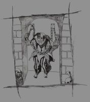 Cask of Amontillado- In chains by Polygon-Eyes