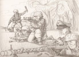 ww2 German attack by warman707