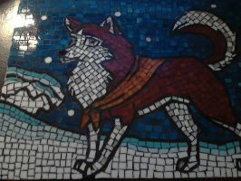 Balto stained glass mosaic by northernlightsky