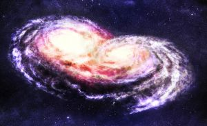 Galactic Collision Color by mike1851