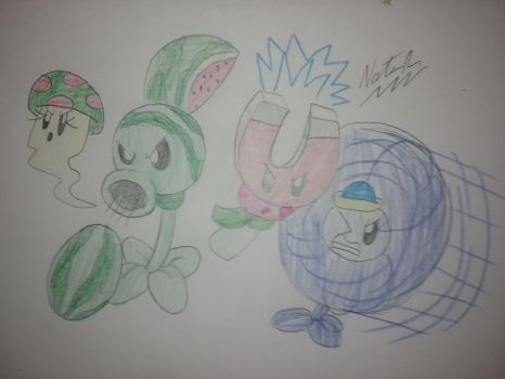 The Quadruple Plant Team by NateReevs2002