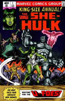 She-Hulk vs The U-Foes by OrionPax09