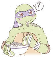 Donatello and his noodles by SeaAndSunshine