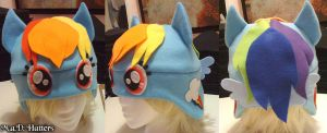 MLP Rainbow Dash Fleece Hat by MDHatters