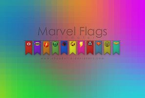 Marvel Flags by coral-m