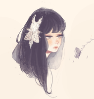 White moth by Vivi011