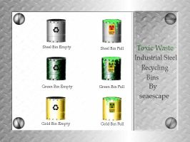 Toxic Waste - Recycling Bins by seaescape