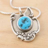 Spoon Pendant with Turquoise by metalsmitten