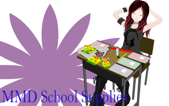 MMD School Supplies Download by MMD-Nay-PMD