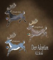 Deer adoptables CLOSED by RyuAmano